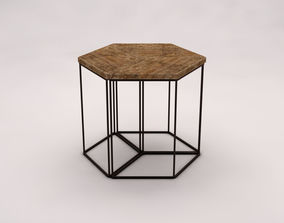 SIDE TABLE---Parallelogram built-in 3D