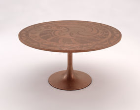 3D SIDE TABLE---Round support and monopod in copper