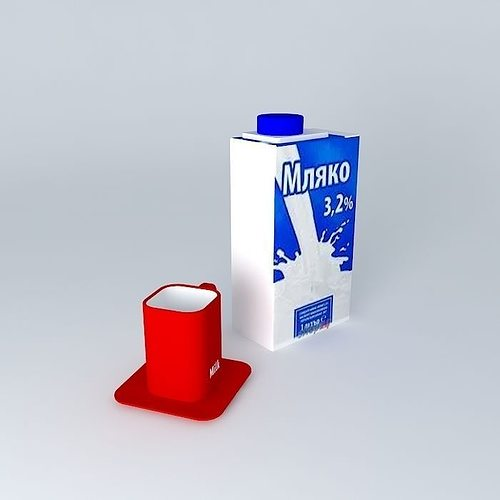 milk 3d model max obj mtl 3ds fbx stl dae 1