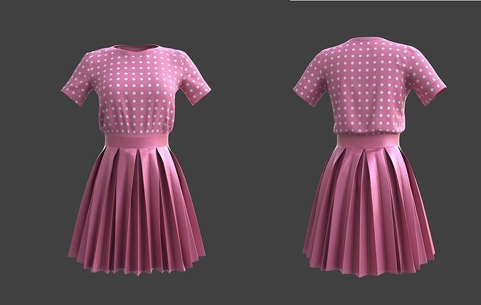 pleated dress -skirt and top