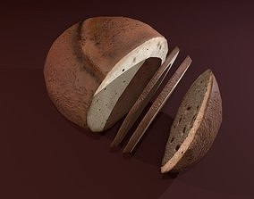 Sliced Bread 3D asset