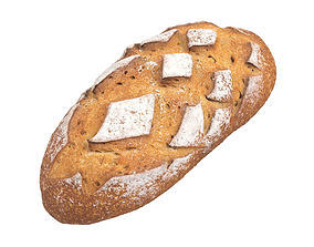 Photorealistic Bread 3D Scan 3