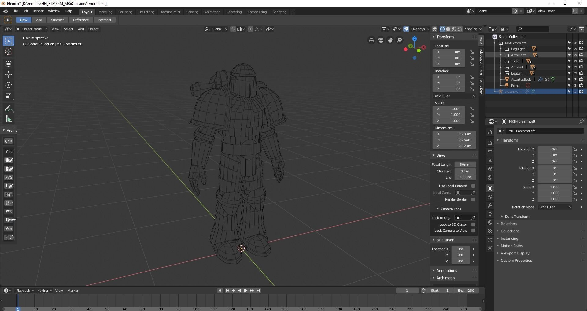 Space Marine MK-ii Crusade Armour | 3D model