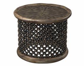 3D Restoration hardware BAMILEKE KING SIDE TABLE