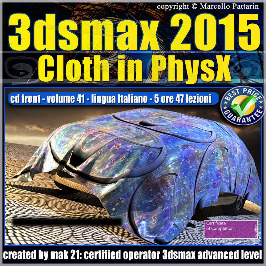 Video Corso 3ds max 2015 Cloth PhsyX vol 41 cd front