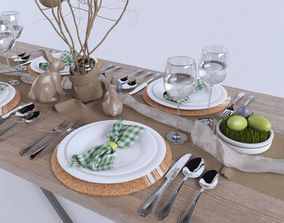 3D Full Easter Table set