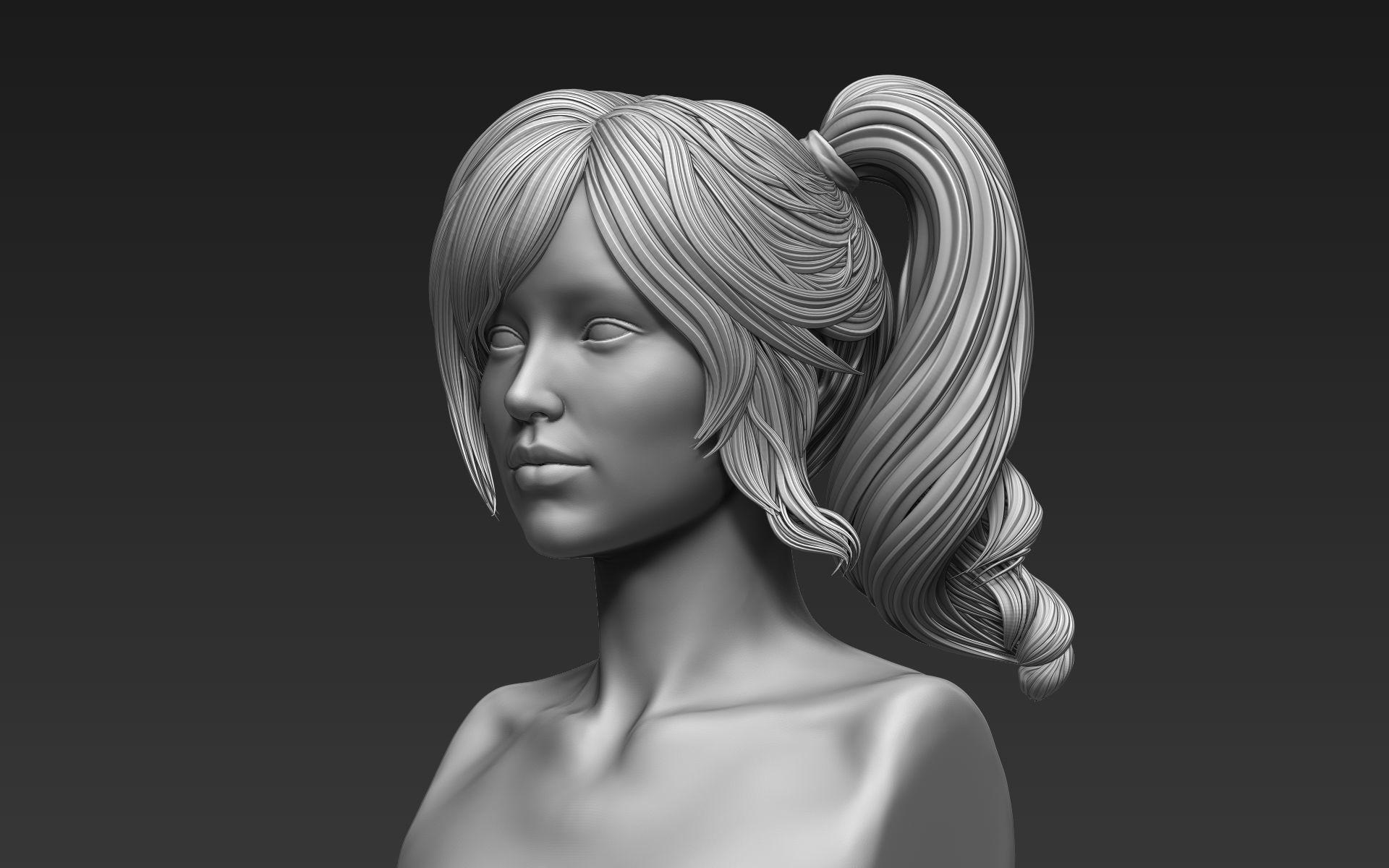 Zbrush Hair Sculpt 03 3d Model Cgtrader