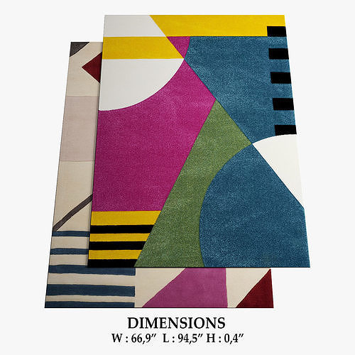 allmodern rugs 287 3d model max obj mtl fbx 1