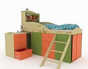 3D model sleep Child bed