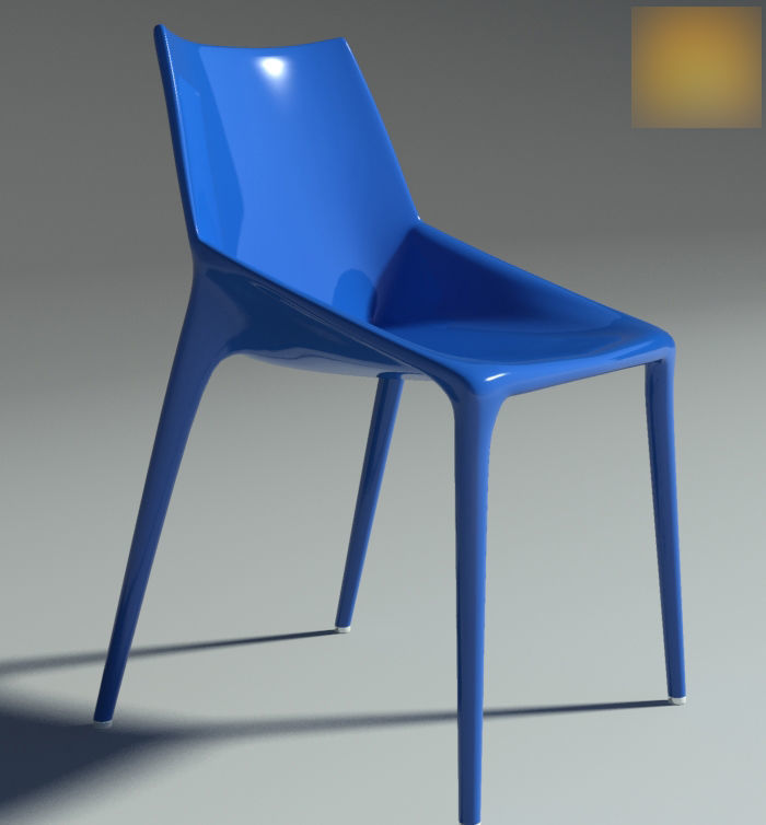 Chair Outline Blu