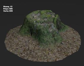 3D model Photoscanned stump 12