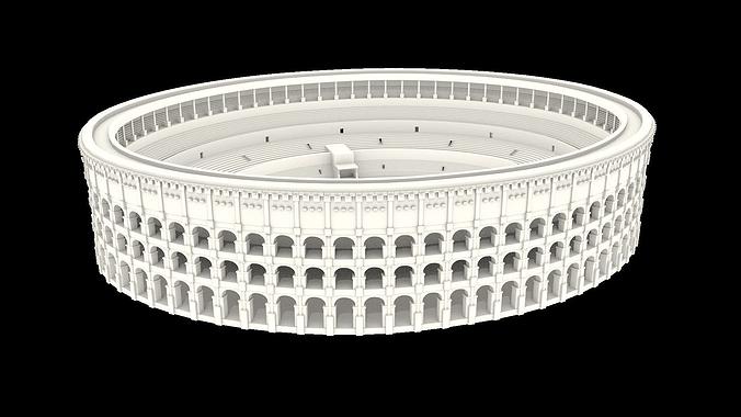colosseum of rome 3d model obj mtl fbx blend 1