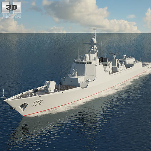 type 052d destroyer 3d model max obj mtl 3ds fbx c4d lwo lw lws 1