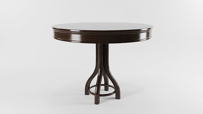 VINTAGE DARK BROWN THONET STYLE TABLE with 2 texture sets