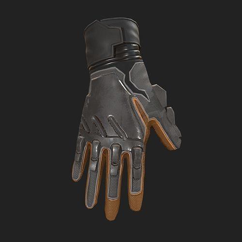 scifi gloves ver2 3d model low-poly obj mtl fbx 1