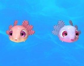 Axolotl 3D asset