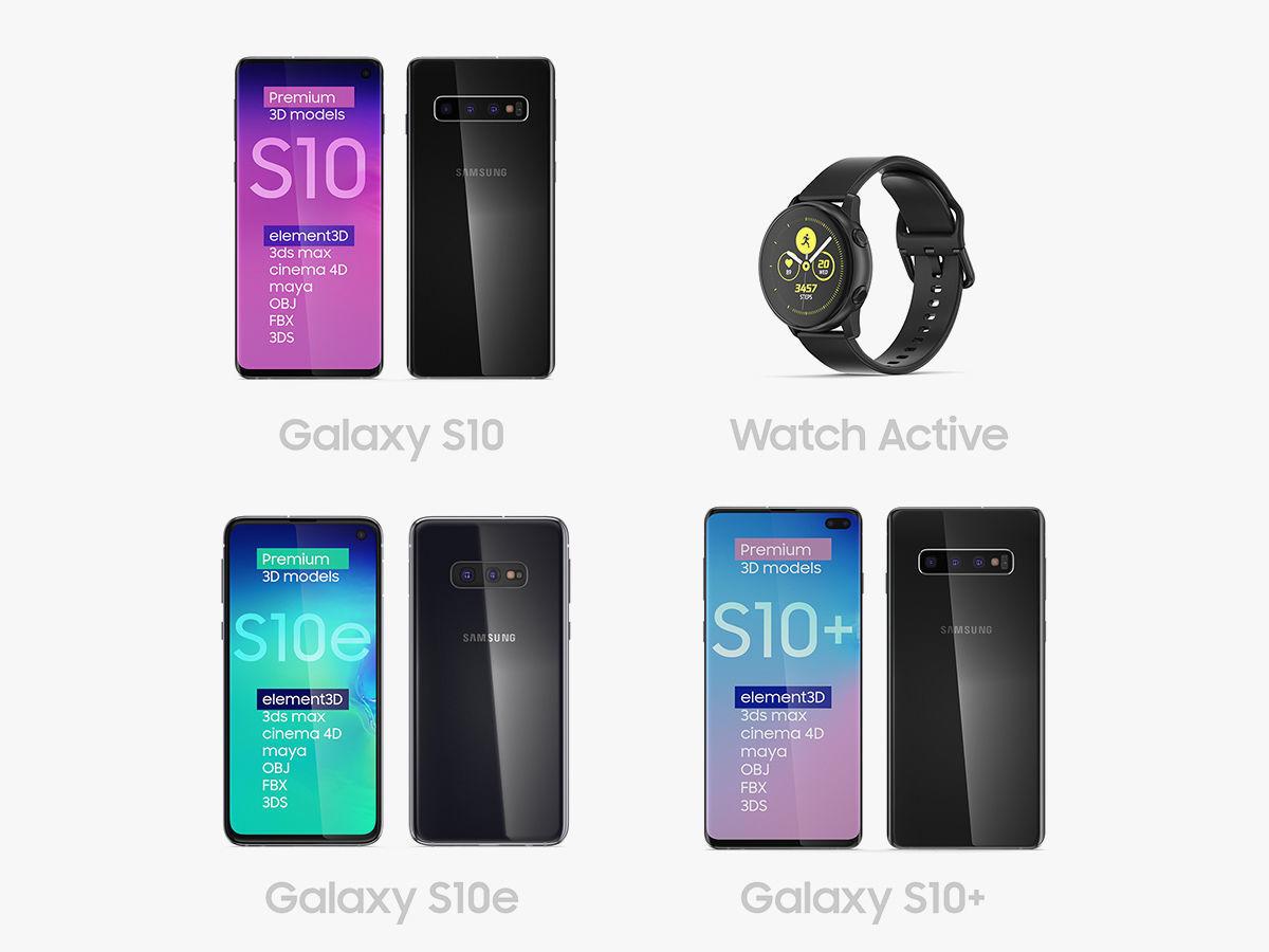 Samsung 2019 Set | 3D model