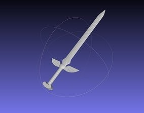 Fairy Tail Erza Scarlet 3D-Printable Sword Assembly