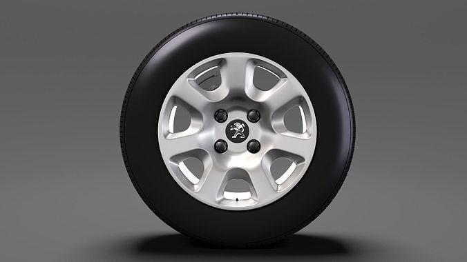 peugeot partner van wheel 2017 3d model max obj mtl 3ds fbx c4d lwo lw lws 1