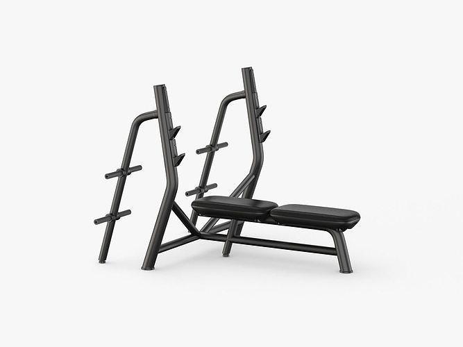 technogym element horizontal bench 3d model max obj mtl 3ds fbx c4d ma mb 1