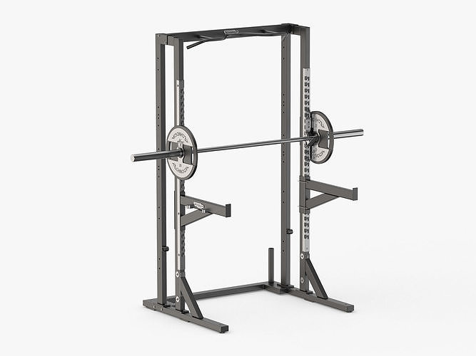 technogym pure olympic half weight rack 3d model max obj mtl 3ds fbx c4d ma mb 1