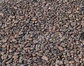 Road rubble material 3D