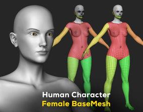 3D model Human Character Female BaseMesh - Woman Body