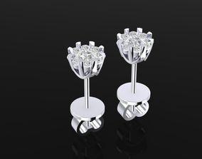 1462 Diamond Earrings 3D printable model