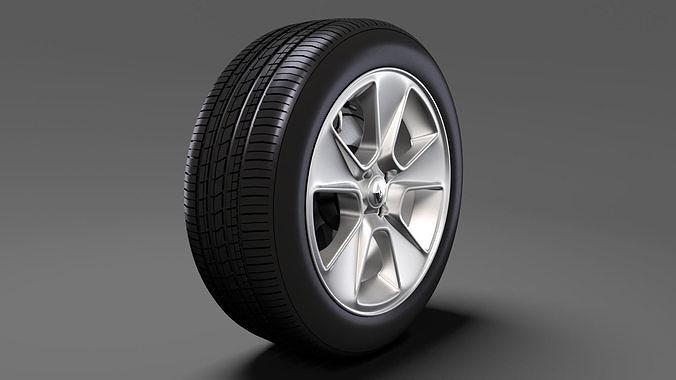 renault sandero wheel 2016 3d model max obj mtl 3ds fbx c4d lwo lw lws 1