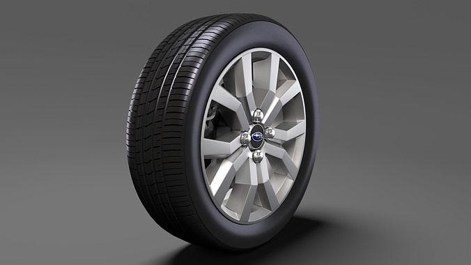 subaru justy rs wheel 2017 3d model max obj mtl 3ds fbx c4d lwo lw lws 1