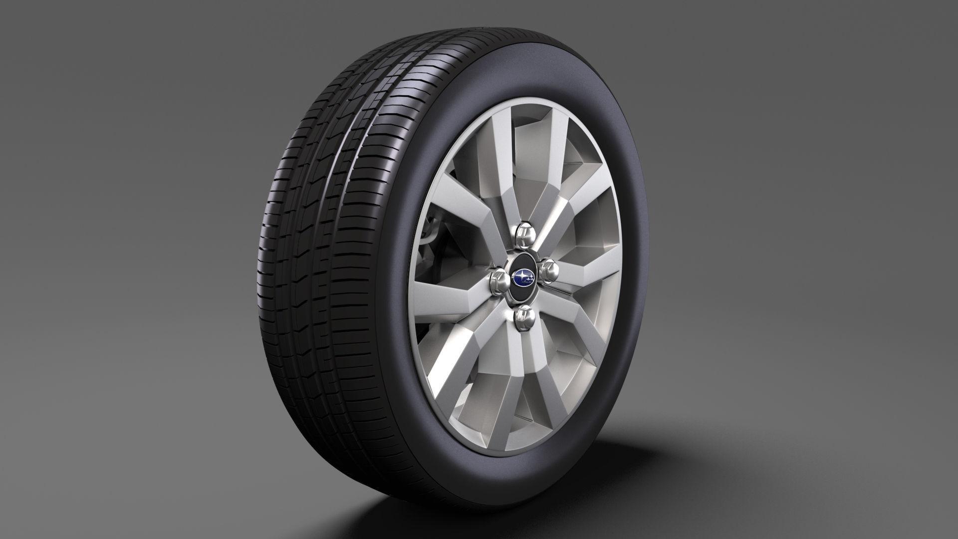 3D Model Subaru Justy RS Wheel 2017