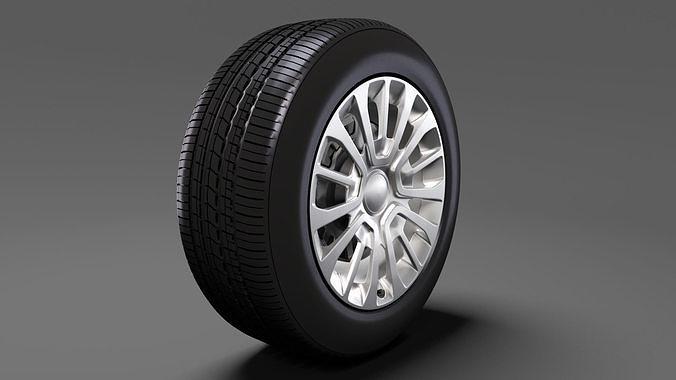 toyota proace van wheel 2017 3d model max obj mtl 3ds fbx c4d lwo lw lws 1