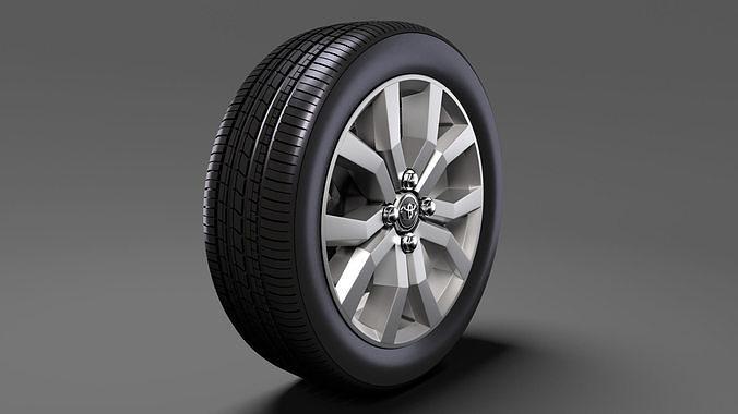 toyota tank wheel 2017 3d model max obj mtl 3ds fbx c4d lwo lw lws 1
