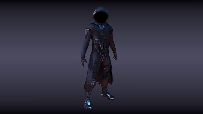 sci fi character 3d model fbx blend 1