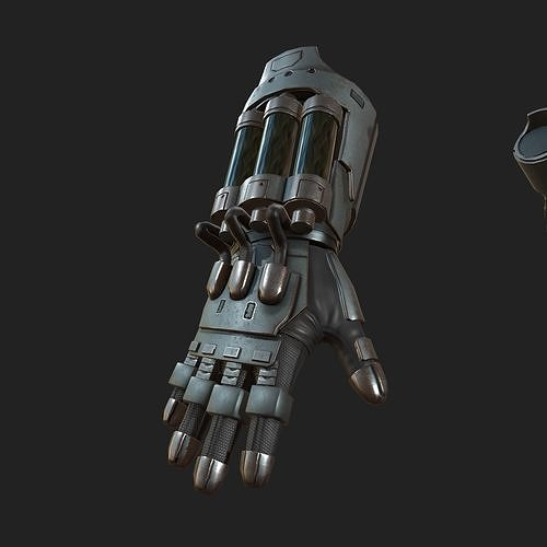 gloves scifi ver 8 3d model low-poly fbx 1