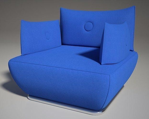 dunder s600 sofa blu mental ray 3d model max obj mtl fbx dwg 1