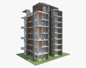 Apartment Building 9 3d 3D model