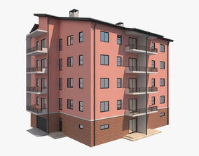 3D model Apartment Building 10