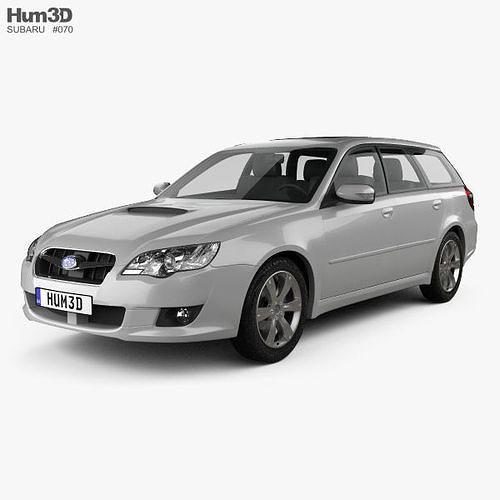 subaru legacy station wagon 2008 3d model max obj mtl 3ds fbx c4d lwo lw lws 1