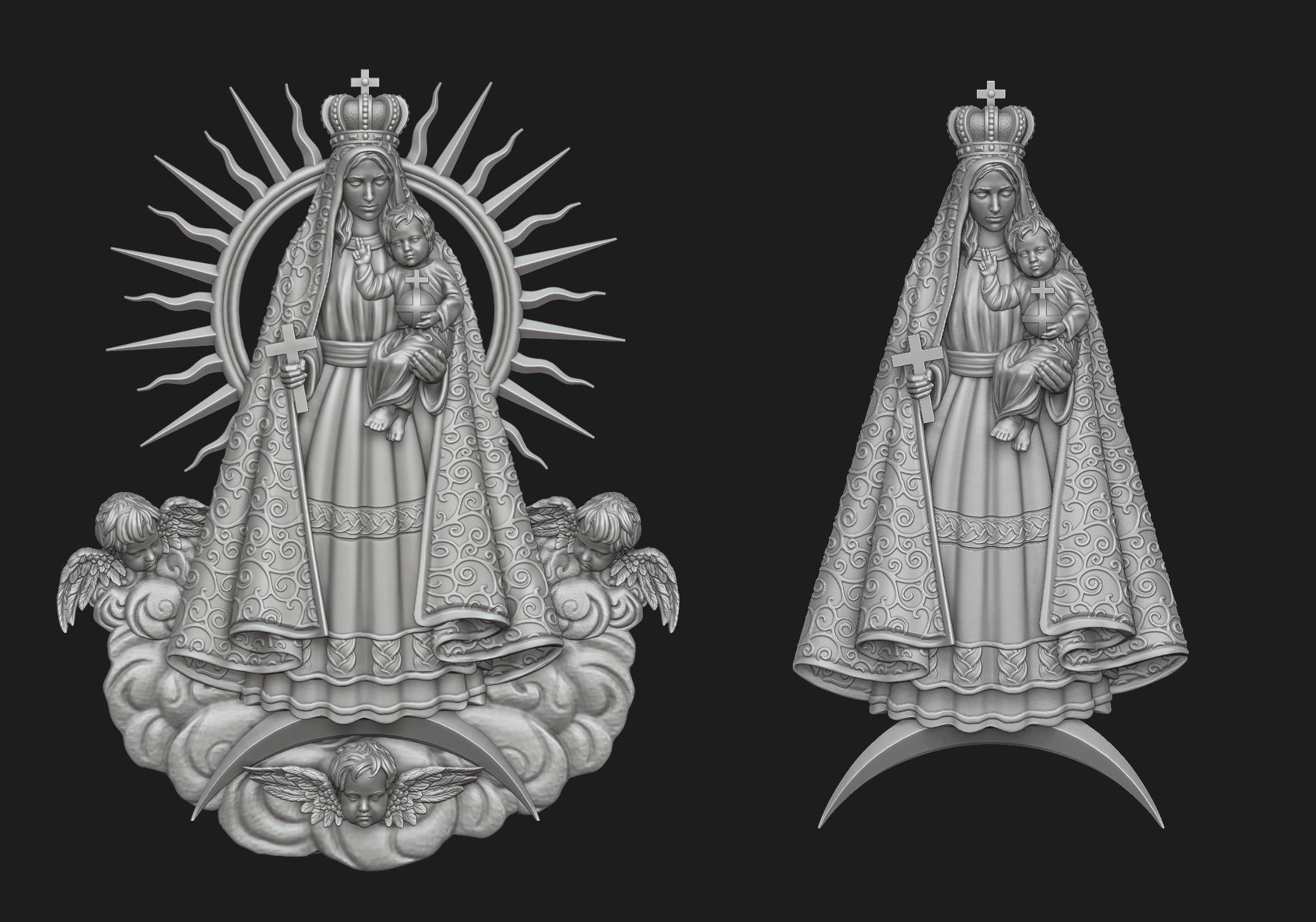 Virgen del Cobre Pendant Set