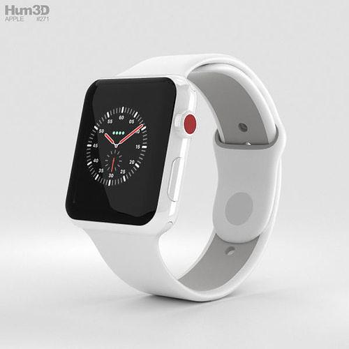 apple watch edition 3 42mm gps white ceramic case pebble sport 3d model max obj mtl 3ds fbx c4d lwo lw lws 1