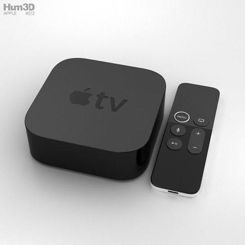 apple tv 4k 3d model max obj mtl 3ds fbx c4d lwo lw lws 1