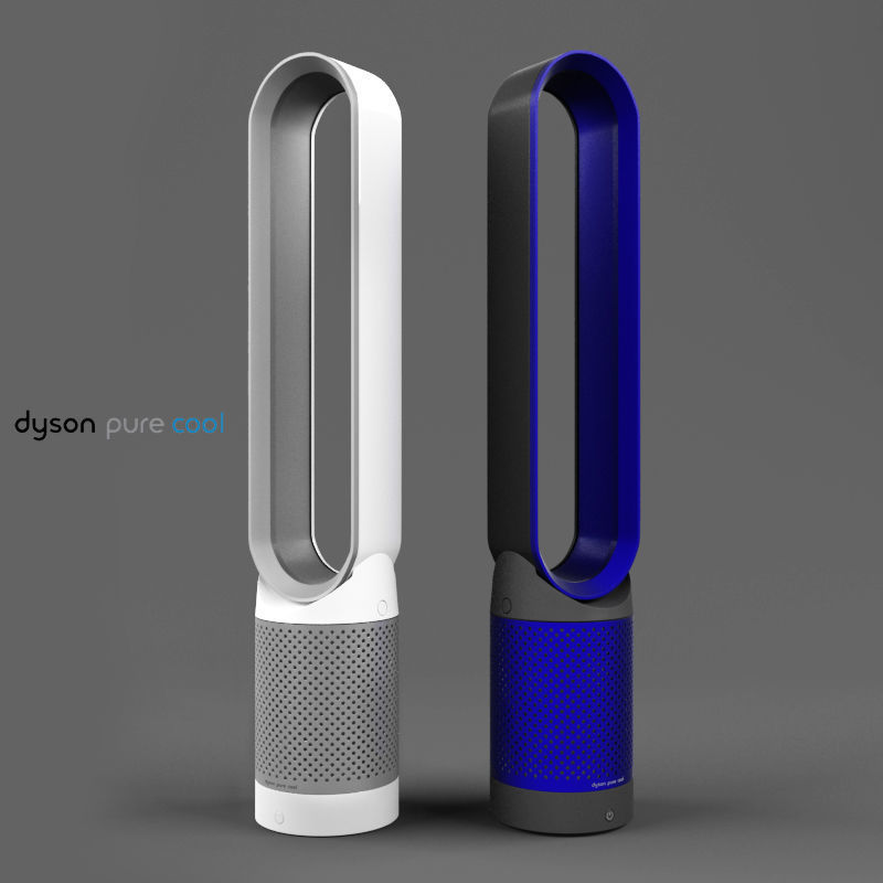 Dyson Pure Cool Link Air Purifier White And Blue 3d