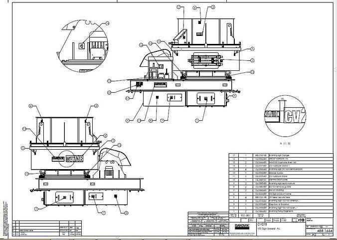 sandvik vsi cv218 rp109 impact crusher complete drawing 3d model pdf 1