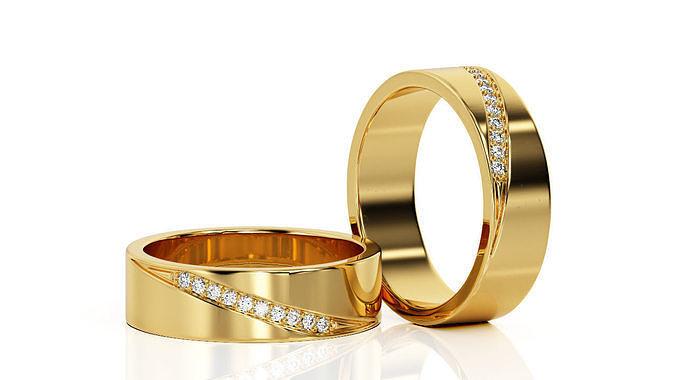 ring band r ba 0025 3d model obj mtl 3ds stl 3dm 1