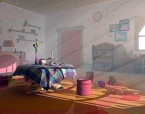 exterior Asset - Cartoons - Bedroom- 03 - 3D Model