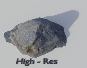Scanned Grey Rock 3D asset