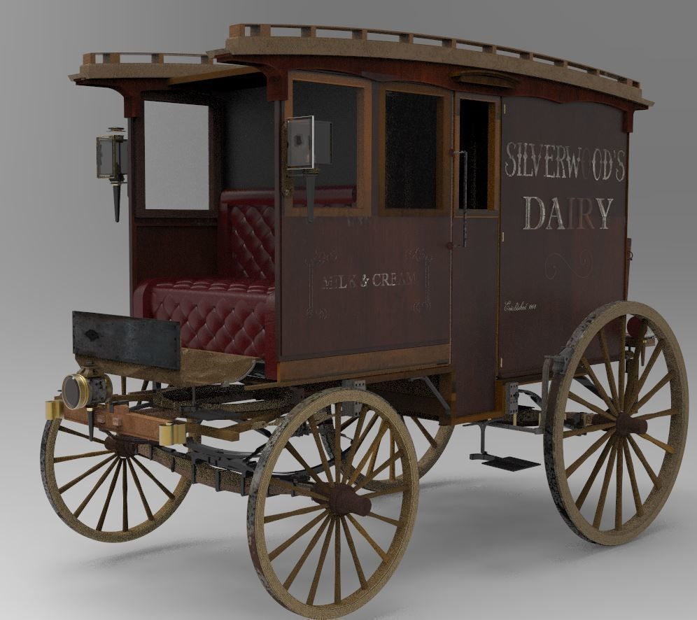 Commercial Horse-Drawn Wagon