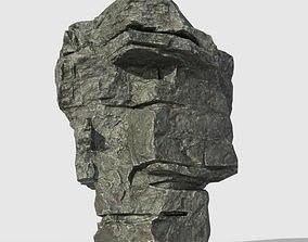 Low poly Beach Cliff Rock 03 3D model
