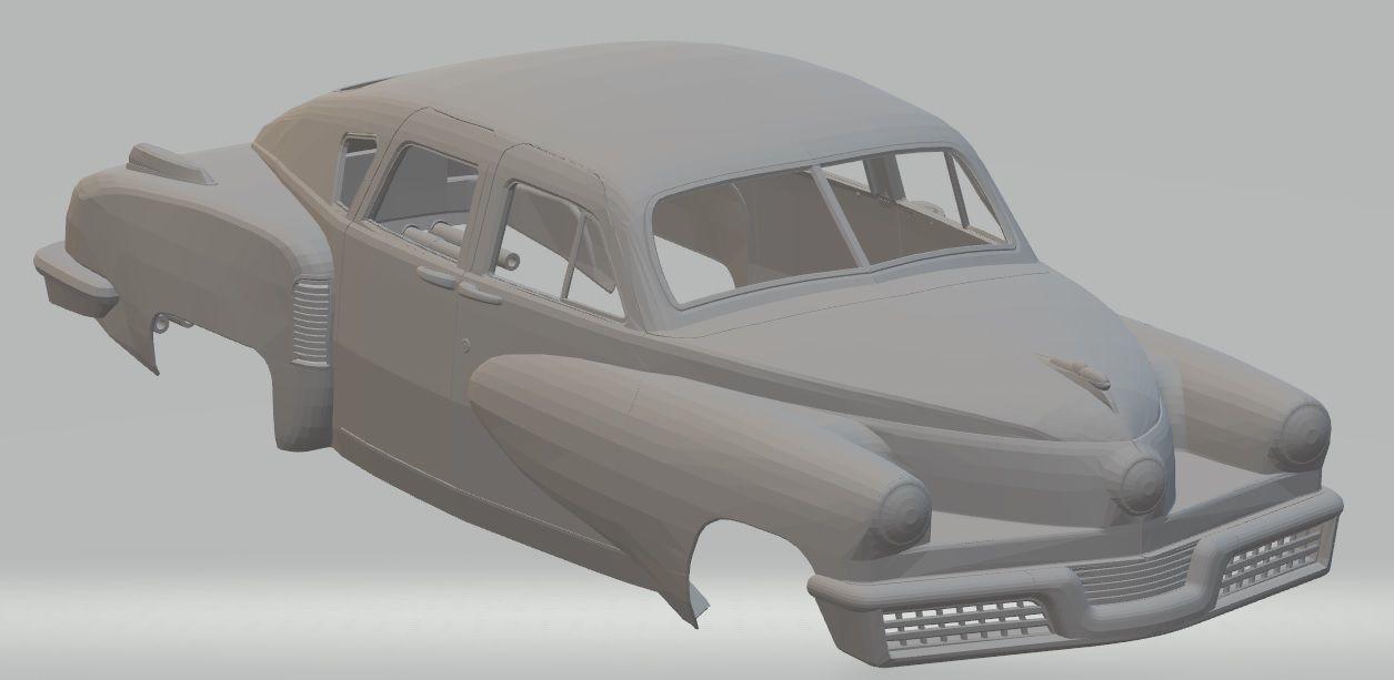 Tucker Torpedo 1948 Printable Body Car | 3D Print Model